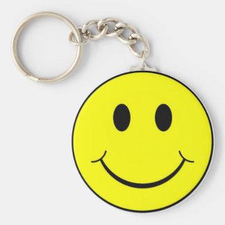 cara sonriente llavero redondo tipo pin