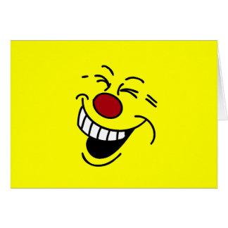 Cara sonriente loca Grumpey Tarjeta Pequeña