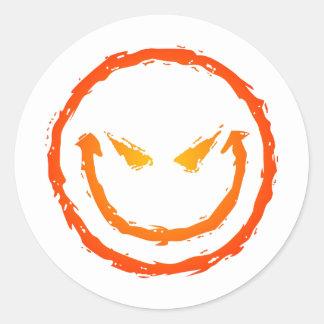 Cara sonriente malvada pegatinas