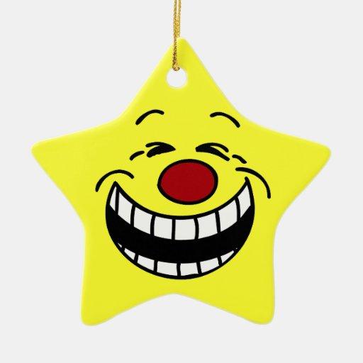 Cara sonriente mandona Grumpey Ornamentos Para Reyes Magos