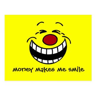Cara sonriente mandona Grumpey Postales