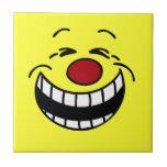 Cara sonriente mandona Grumpey Tejas Ceramicas