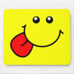 Cara sonriente Mousepad Tapetes De Raton