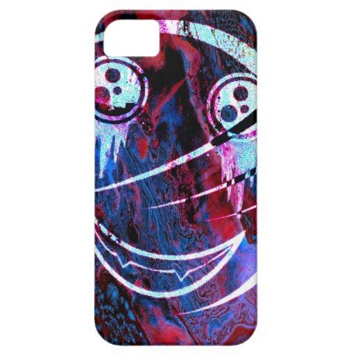 Cara sonriente multicolora iPhone 5 Case-Mate cobertura