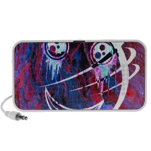 Cara sonriente multicolora iPod altavoz