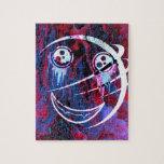Cara sonriente multicolora puzzle con fotos
