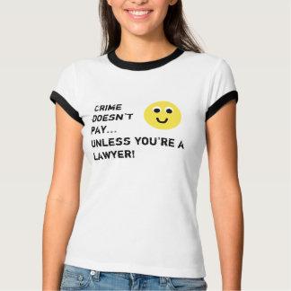 cara sonriente, paga de Crimedoesn't… a menos que Playera
