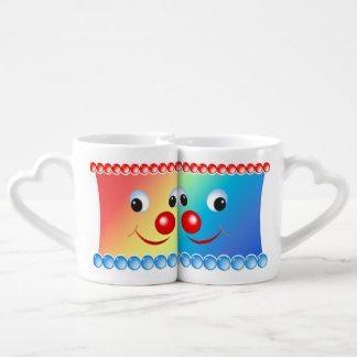 Cara sonriente taza para parejas