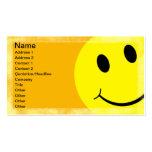 Cara sonriente plantillas de tarjetas personales
