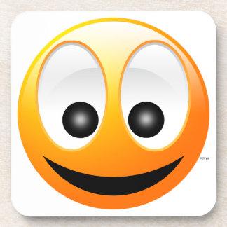 Cara sonriente posavasos de bebidas