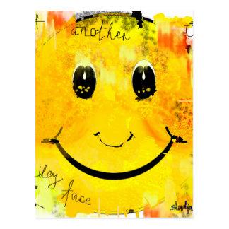 cara sonriente postales