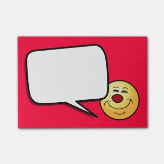 Cara sonriente presumida Grumpey Nota Post-it®