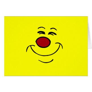 Cara sonriente presumida Grumpey Tarjetas