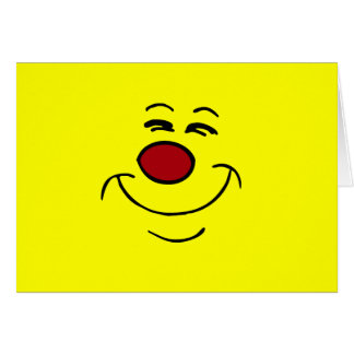 Cara sonriente presumida Grumpey Tarjeta Pequeña