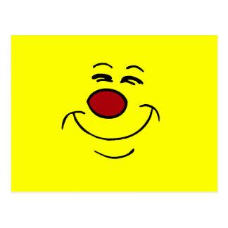 Cara sonriente presumida Grumpey Tarjeta Postal