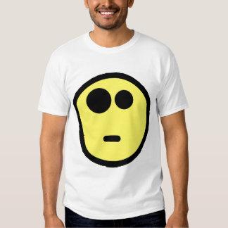 Cara sonriente que pregunta amarilla poleras