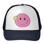 Cara sonriente rosada gorras de camionero