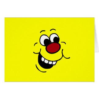 Cara sonriente sabia Grumpey Tarjeta Pequeña