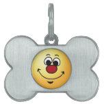 Cara sonriente sarcástica Grumpey Placa Mascota