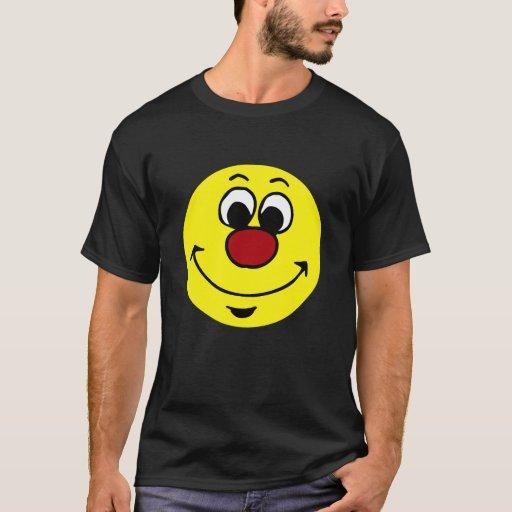 Cara sonriente sarcástica Grumpey Playera