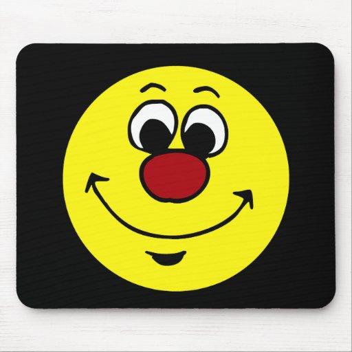 Cara sonriente sarcástica Grumpey Alfombrillas De Raton