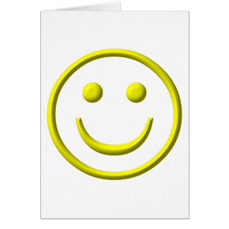 ¡Cara sonriente - sea feliz! Tarjeta De Felicitación