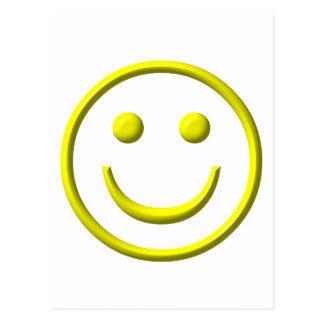¡Cara sonriente - sea feliz! Tarjeta Postal