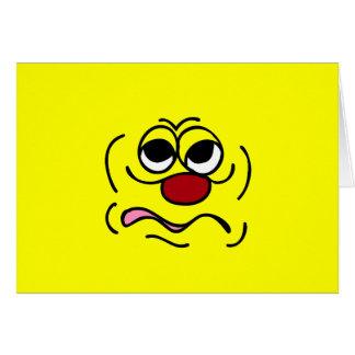 Cara sonriente soñolienta Grumpey Tarjetas