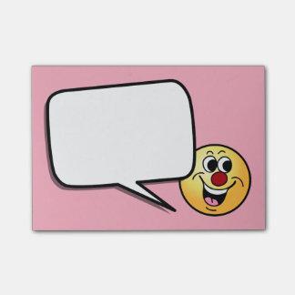 Cara sonriente sonriente Grumpey Post-it® Notas