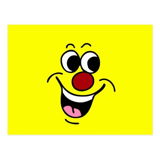 Cara sonriente sonriente Grumpey Postal