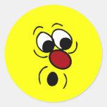 Cara sonriente sorprendida Grumpey Pegatinas