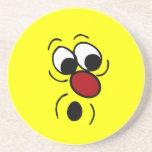 Cara sonriente sorprendida Grumpey Posavasos Personalizados