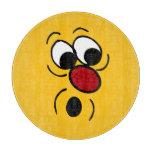 Cara sonriente sorprendida Grumpey Tabla De Cortar