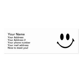 Cara sonriente plantillas de tarjeta de negocio