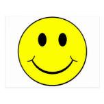 cara sonriente tarjeta postal