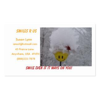 Cara sonriente tarjetas de visita