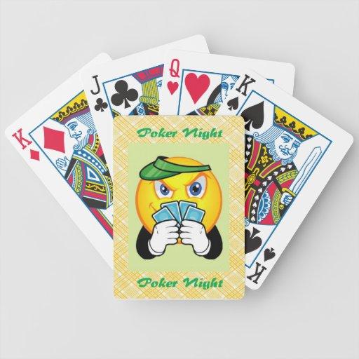 Cara sonriente, tarjetas del póker de la bicicleta baraja de cartas