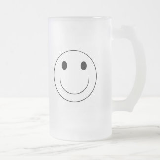 cara sonriente taza cristal mate