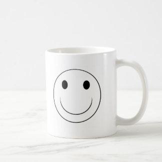cara sonriente taza básica blanca