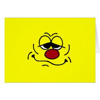 Cara sonriente tonta Grumpey Tarjeta