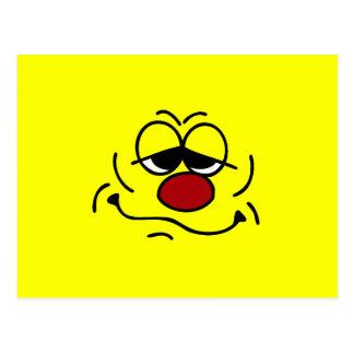 Cara sonriente tonta Grumpey Tarjetas Postales