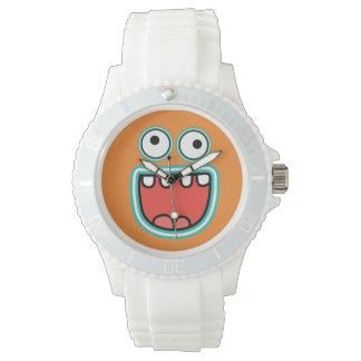 Cara sonriente tonta relojes
