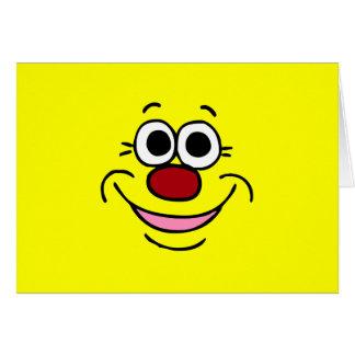 Cara sonriente tranquila Grumpey Felicitación