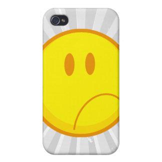 cara sonriente triste que frunce el ceño tonta iPhone 4/4S carcasa