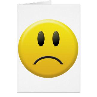 Cara sonriente triste tarjeta