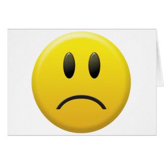 Cara sonriente triste tarjetas