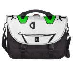 Cara sonriente verde bolsas de portátil
