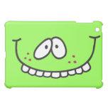 cara sonriente verde de los dientes divertidos den