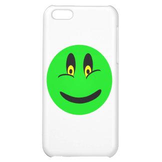 Cara sonriente verde