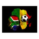 Cara surafricana de la bandera de los amantes del  postales